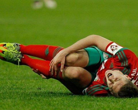 Моторошну травму отримав футболіст під час матчу (відео)
