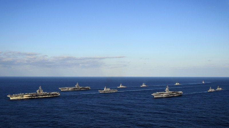 Авианосцы США подошли к берегам КНДР (фото, видео)