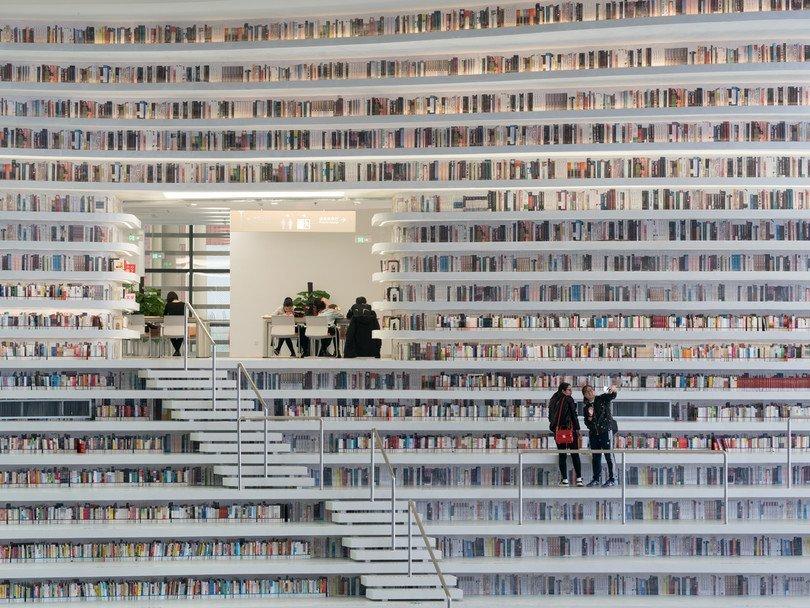 В Китае открыли уникальную пятиуровневую библиотеку (фото)