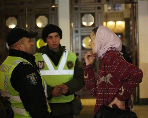 У Києві на річницю Революції Гідності сталася бійка між поліцією та активістами