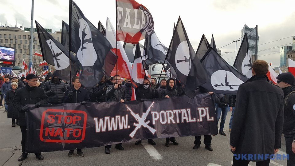Марш ультраправих в Польщі: націоналісти вийшли з провокаційним банером про Україну (фото)