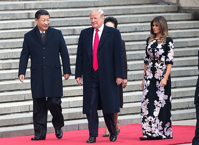 Дональд Трамп и Мелания Трамп в Китае