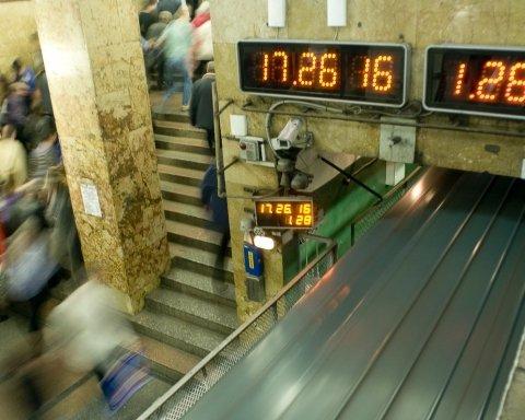 Информационное табло в метро Киева обновят