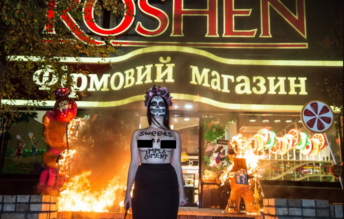Активістку Femen, яка палила ведмедів Roshen, викрали невідомі