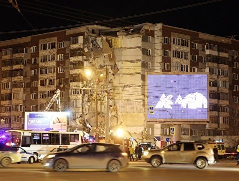 Момент взрыва жилого дома в России показали в сети (видео)