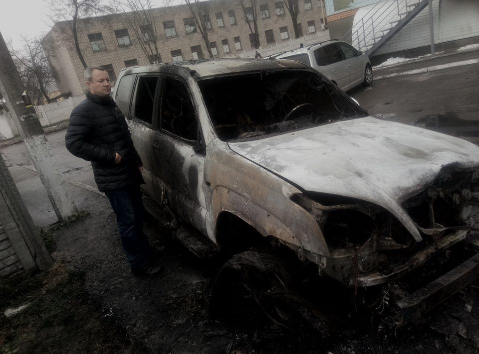 Неизвестные взорвали автомобиль коменданта Майдана