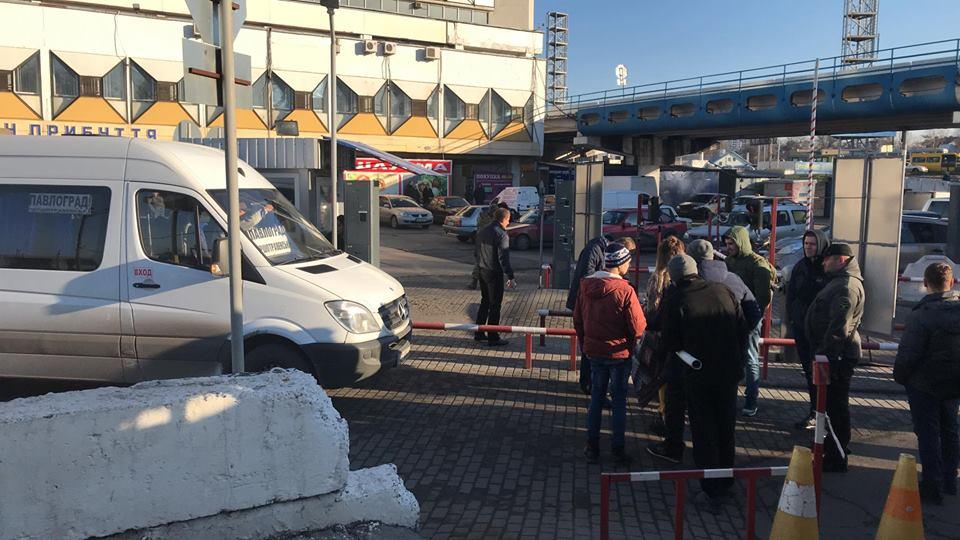Ветераны АТО заблокировали автовокзал: стало известно почему