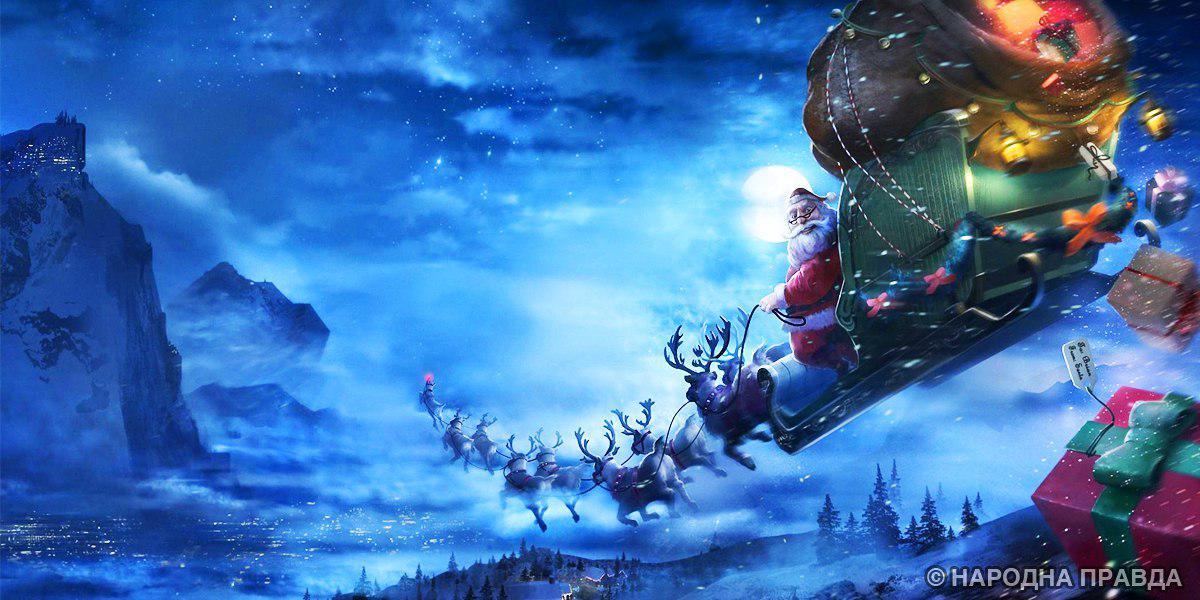 Напротив храма вцентре Нью-Йорка установили картину сраспятым Санта-Клаусом