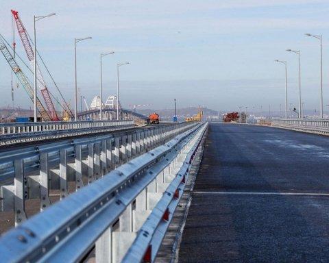 Стало відомо про нові проблеми з Керченським мостом окупантів: може розвалитися