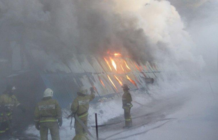 пожежа, Новосибірськ, Росія
