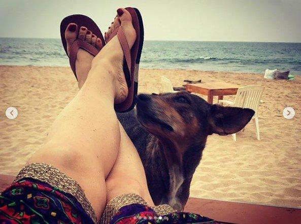 Могилевська показала фото відпочинку зі Шрі-Ланки