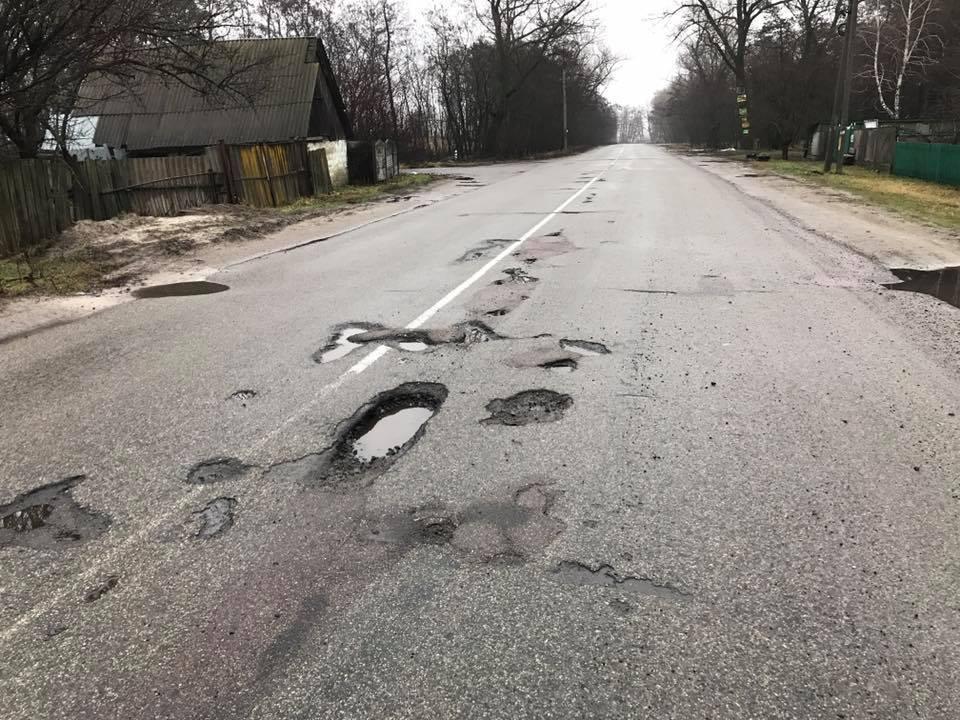 Водителям показали страшную дорогу в Украине