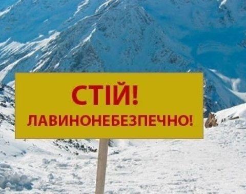 Украинцев предупредили об опасности схода лавин