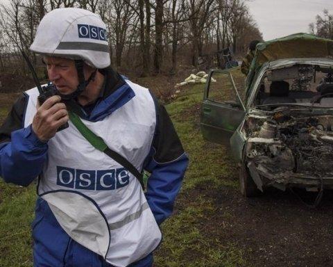 П'яний бойовик розтрощив автівку місії ОБСЄ на Донбасі