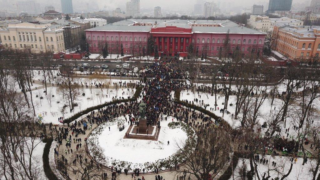 Три тысячи украинцев требовали импичмента Порошенко (фоторепортаж)