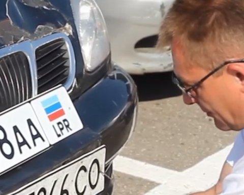 Водителей на Донбассе заставляют менять номера автомобилей