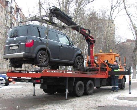 Автомобили начнут забирать из-за неправильной парковки