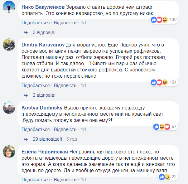Киевляне жестоко проучили «героя парковки»