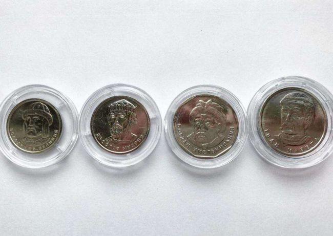 Украинцам показали новые монеты номиналом 1,2,5 и 10 гривень (фото)