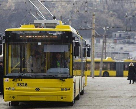 П'ять тролейбусних маршрутів закривають у Києві