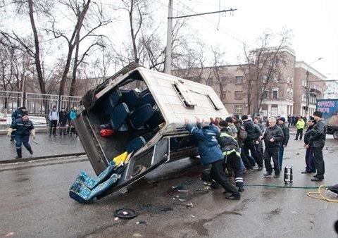 Жуткая ДТП: маршрутка перевернулась на крышу, а внутри были пассажиры