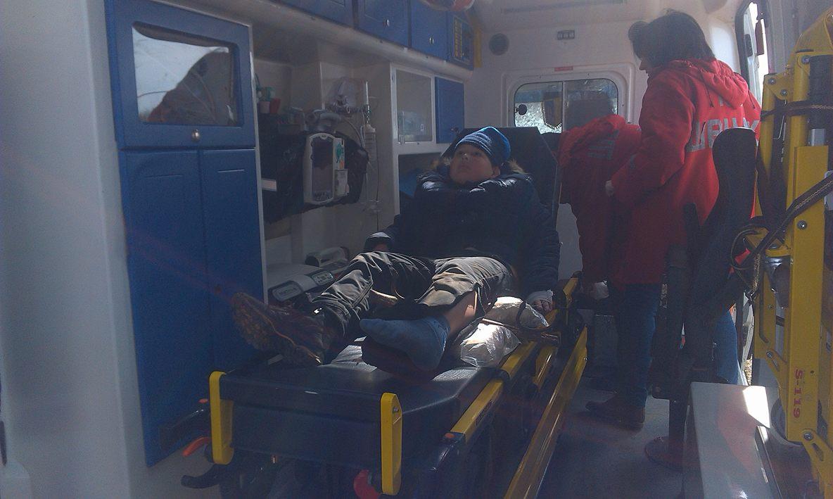 На Рівненщині рятувальники надали допомогу учню, щопроколов ногу арматурою