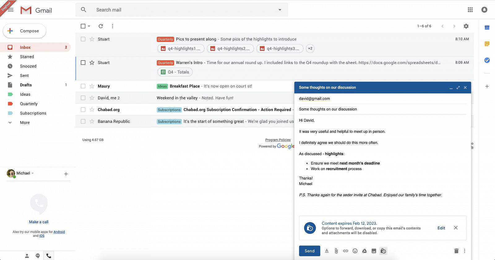 Google запланировала масштабный редизайн почты Gmail