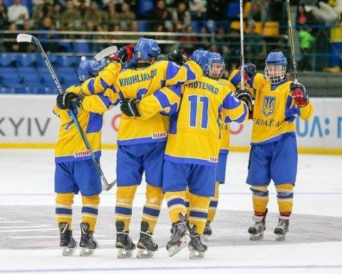 Юніорська збірна України з хоккею сенсаційно виграла домашній чемпіонат світу