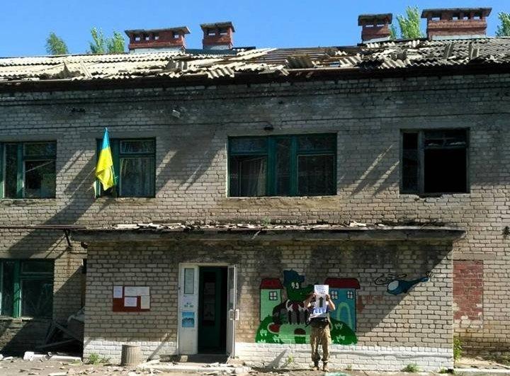 Штаб ООС: Террористы обстреляли Майорск из120-мм минометов, повреждены жилые дома