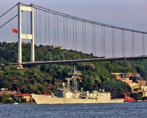 Ударная группа ВМС НАТО вошла в Черное море