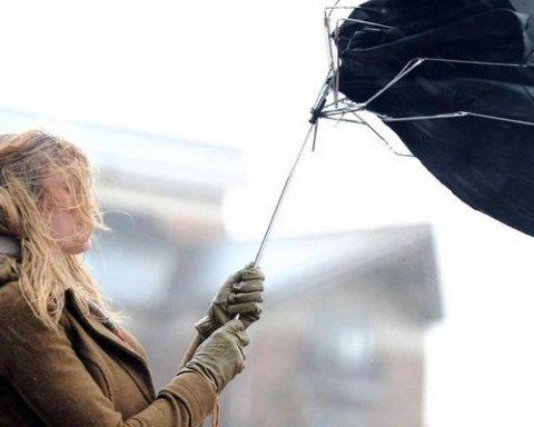 Українців попередили про грози та шквальний вітер