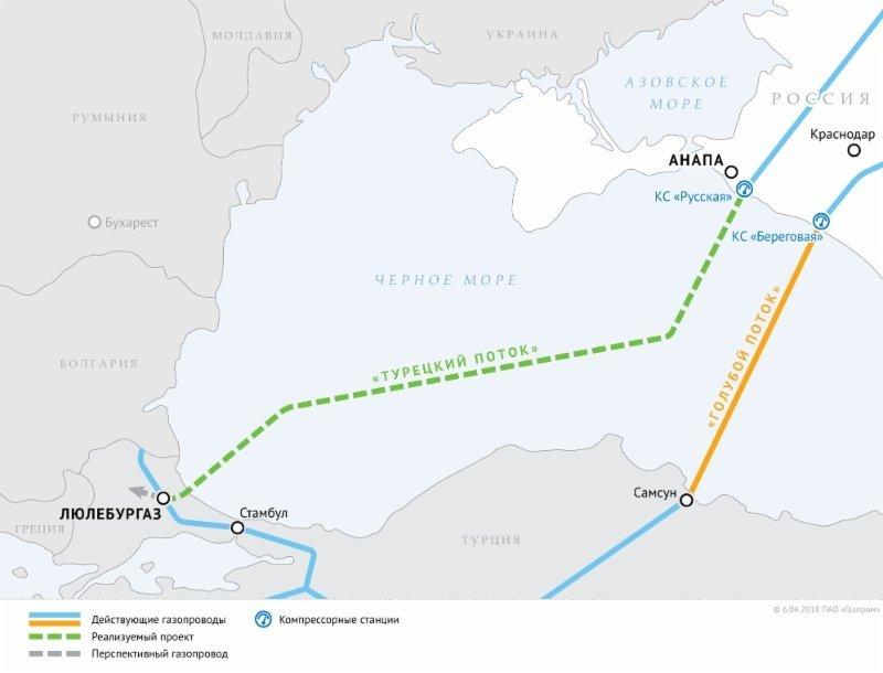 «Газпром» домовився із Туреччиною про будівництво сухопутної ділянки «Турецького потоку»