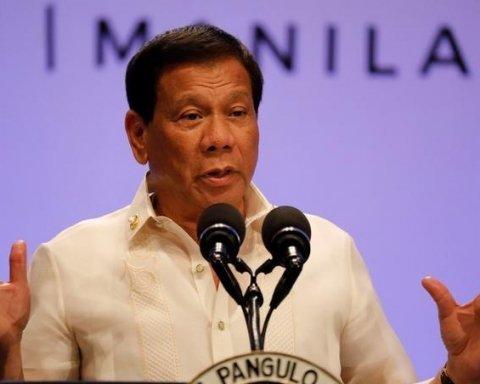 Президент Філіппін поставив дивну умову щодо своєї відставки