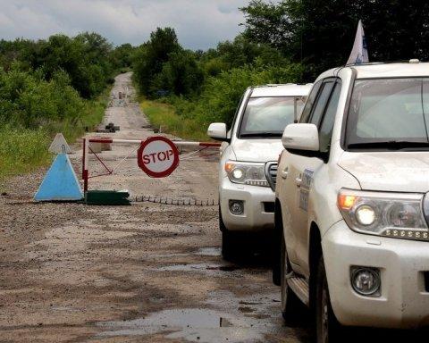 Пьяные террористы направили ОБСЕ-шников на минную дорогу под Донецком — отчет