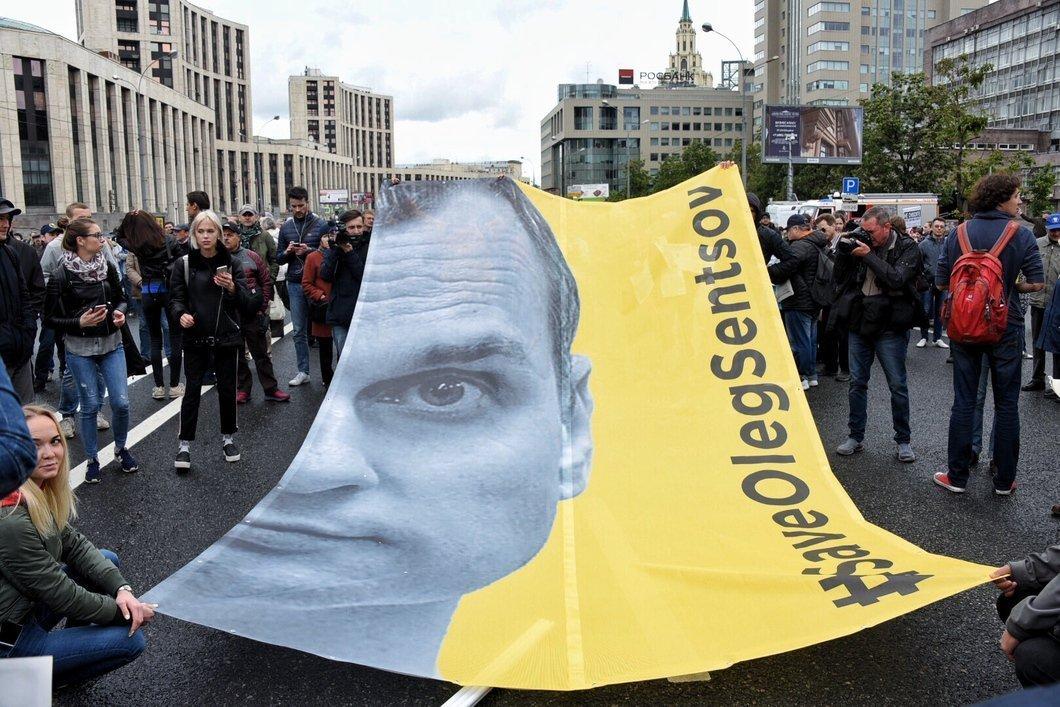 """Активісти з плакатами """"Врятуйте Сенцова"""" намагалися перетнути кордон Фінляндії"""