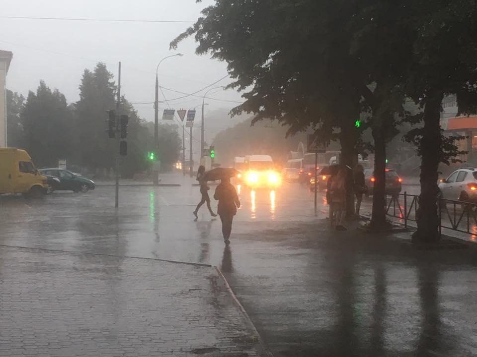 В Хмельницком очередной ливень