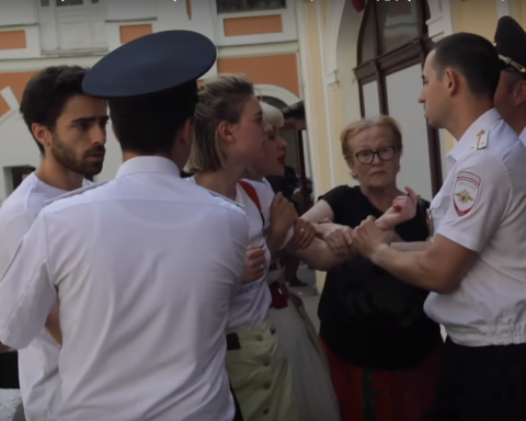 В Москве задержали актеров за поддержку Сенцова