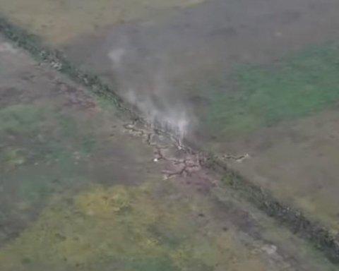 З'явилося відео знищення опорного пункту бойовиків ЛДНР