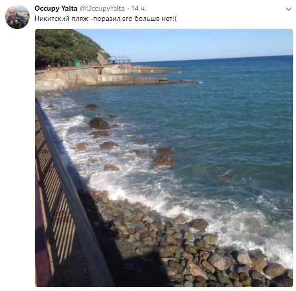 В окупованому РФ Криму зникають пляжі