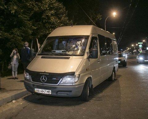 Автобус обстреляли в Киеве