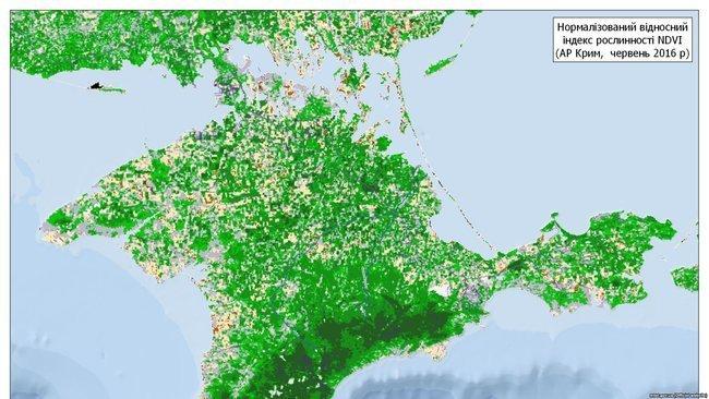 У Криму зникає рослинність, з'явилися кадри з космосу