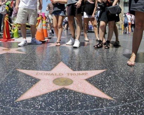 У Голлівуді зруйнували зірку Трампа