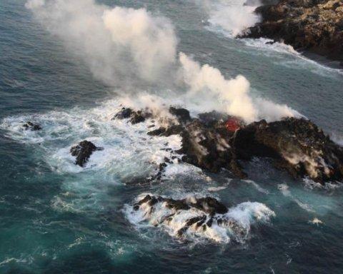 Через виверження вулкану в океані з'явився новий острів