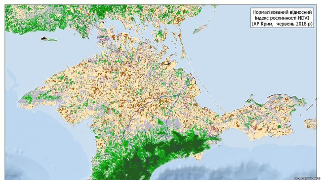 В Крыму исчезает растительность, появились кадры из космоса