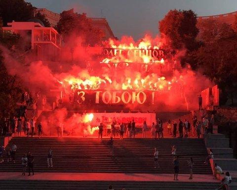 В Одессе прошла масштабная акция в поддержку Сенцова