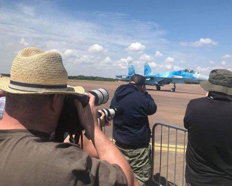 Український ас показав вищий пілотаж