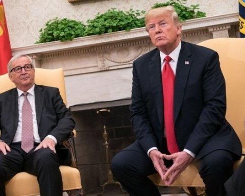 """""""Це все Трамп, не я"""": Юнкер прокоментував поцілунок в Овальному кабінеті"""