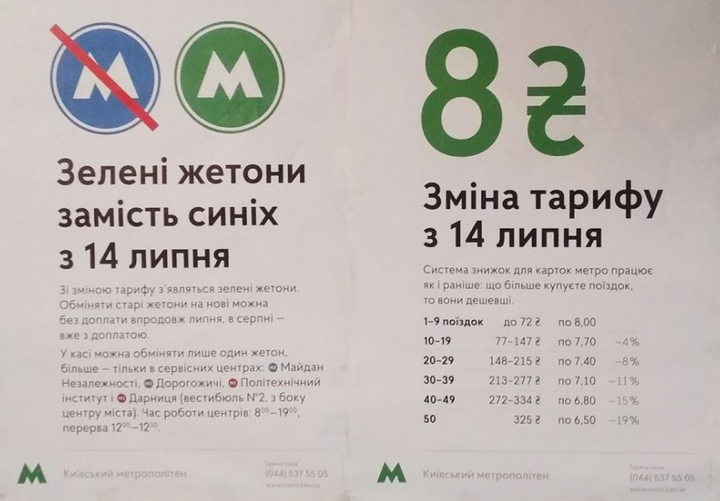 В киевском метрополитене появятся новые жетоны