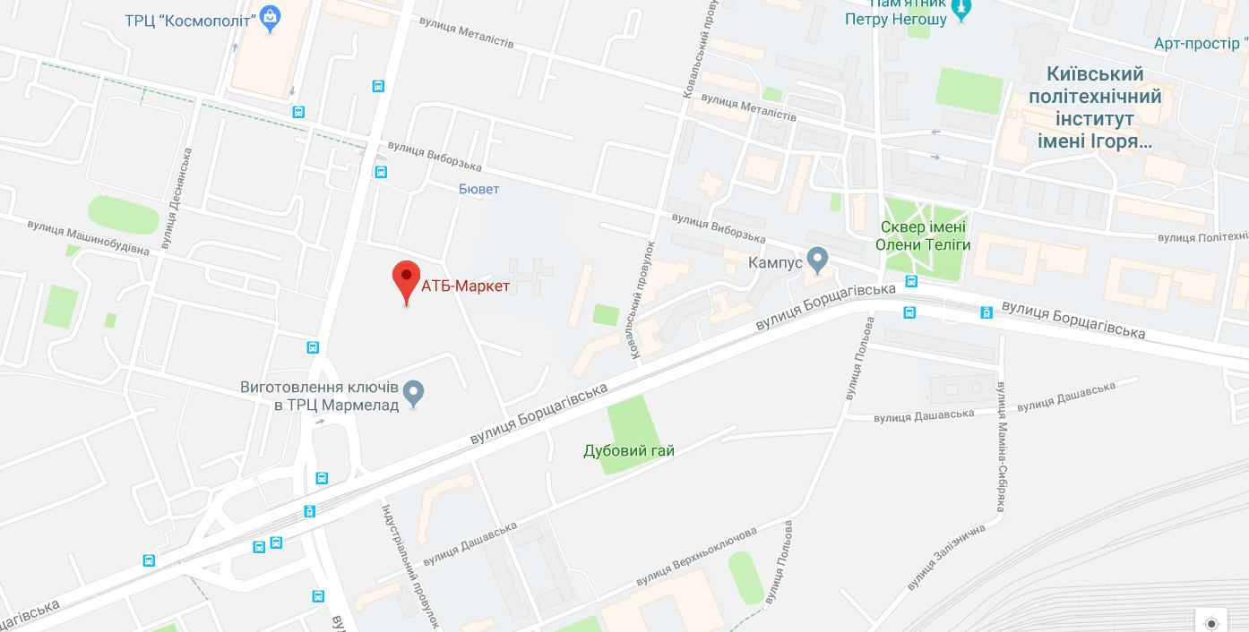 «АТБ» построила на киевской Борщаговке незаконный магазин