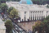 Власники «євроблях» продовжують блокувати центр Києва